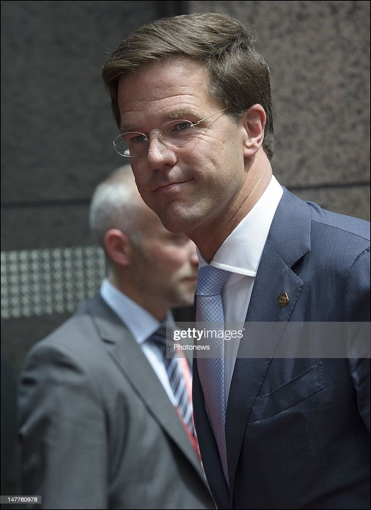 Dutch Politician <a gi-track='captionPersonalityLinkClicked' href=/galleries/search?phrase=Jan+Peter+Balkenende&family=editorial&specificpeople=549216 ng-click='$event.stopPropagation()'>Jan Peter Balkenende</a> arrives at the European Summit on June 28, 2012 in Brussels, Belgium.Leaders are meeting to discuss the Multiannual Financial Framework, the European Semester and the European growth agenda.