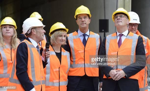 Dutch Prime Minister Mark Rutte Flemish Prime Minister Kris Peeters Flemish minister of Mobility Public Works Hilde Crevits Dutch minister of...