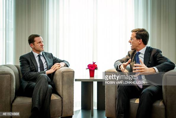 Maurits Hendriks Netherlands Prime Minister Mark Rutte L: Dutch Prime Minister Mark Rutte (R) Meets With Minister