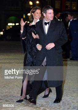Dutch Prince Maurits and Princess Marilene arrive at the Royal Palace January 31 2002 in Amsterdam Netherlands for a dinner party hosted by Dutch...