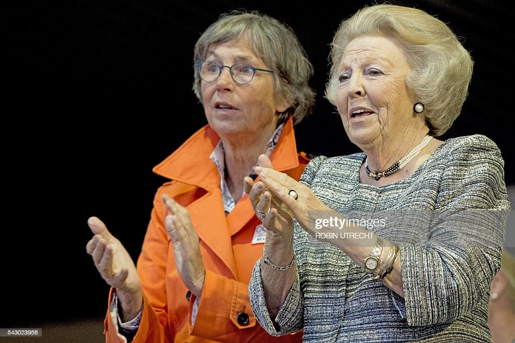 Dutch Princess Beatrix attends the CHIO international horse show in Rotterdam on June 25, 2016. / AFP / ANP / Robin Utrecht / Netherlands OUT