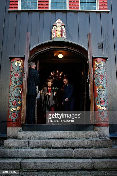 Dutch princess Beatrix visits the Norwegian Church in Rotterdam on November 13 as she attends the yearly Christmas market with Norwegian products The...