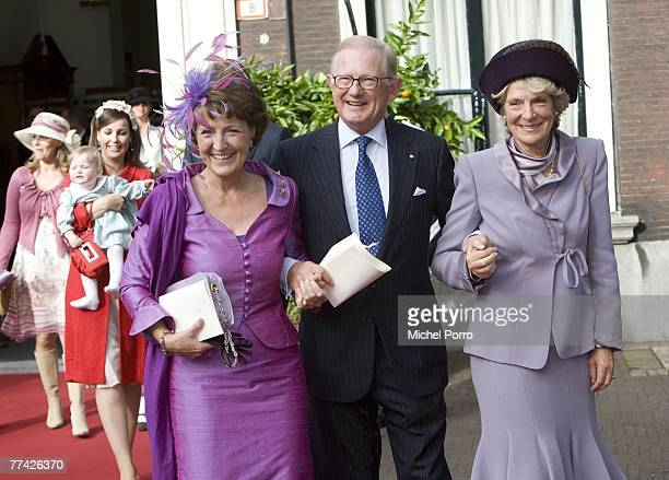 Dutch Princess Irene and Princess Margriet and her husband Pieter van Vollenhoven leave the Kloosterkerk after Dutch Princess Ariane's christening...