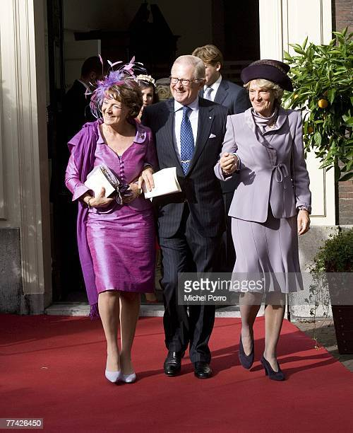 Dutch Princess Irene Princess Margriet and her husband Pieter van Vollenhoven leave the Kloosterkerk after Dutch Princess Ariane's christening...