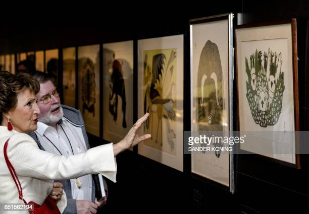 Dutch Princess Margriet and Pieter van Vollenhoven attend the opening of the Canadian Inuit Art exhibition at the Museum of Ethnology in Leiden on...