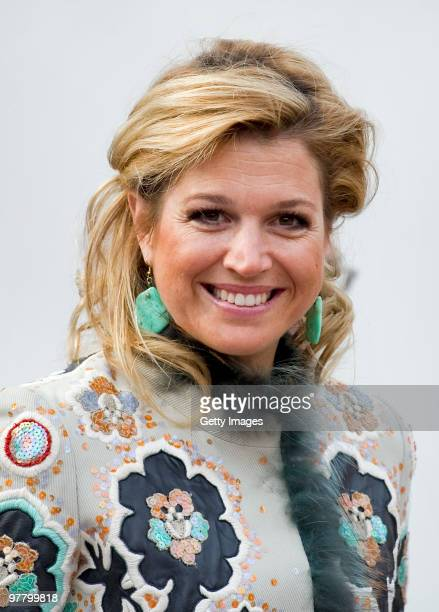 Dutch Princess Maxima attends the opening of the Keukenhof on March 17 2010 in Lisse Netherlands