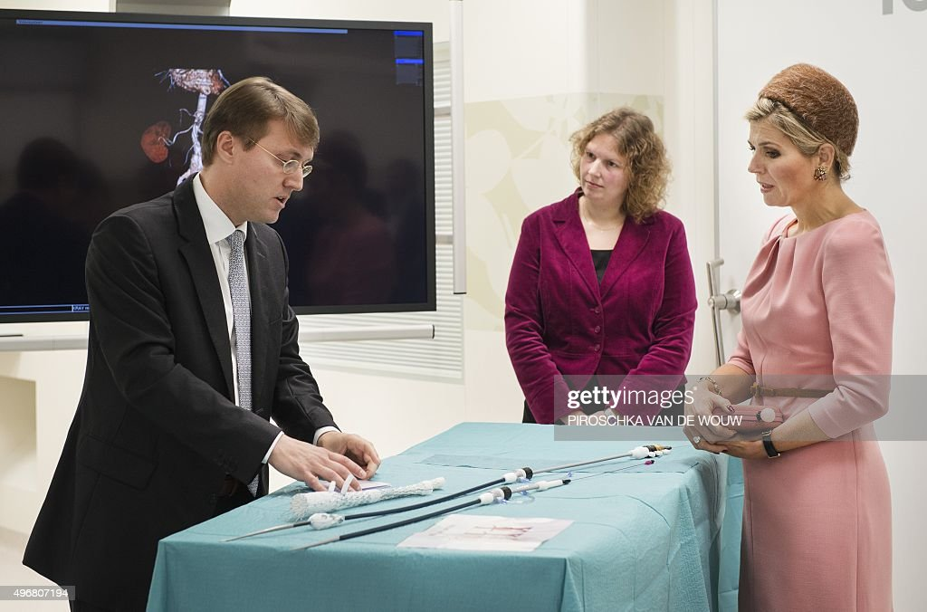 Dutch Princess Maxima attents the official opening of the innovative operating rooms at the Radboud University Medical Centre in Nijmegen on November...