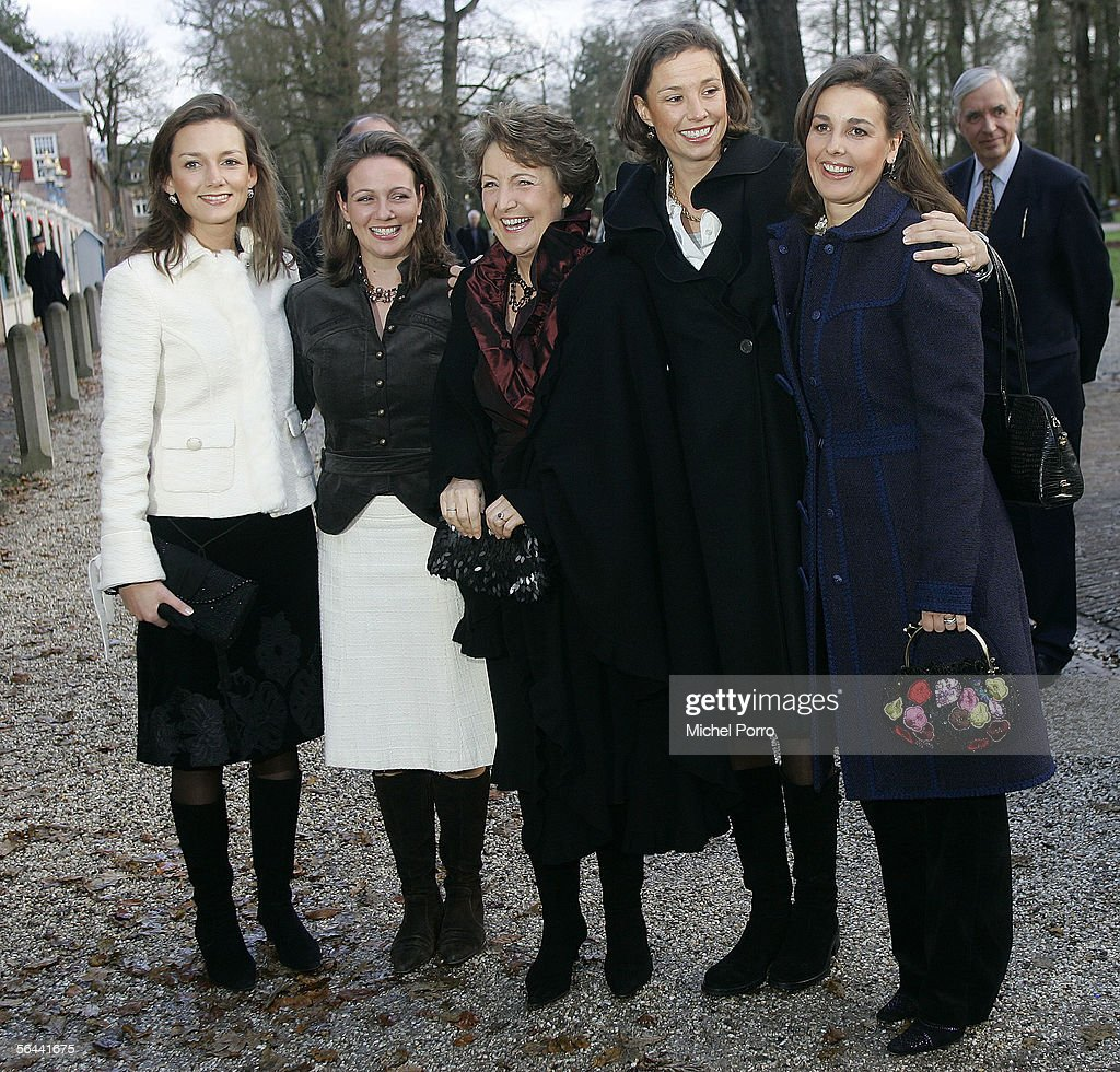 Marilene annette and anita arrive to visit a royal wedding dress