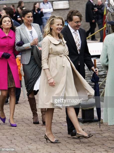 Dutch Princesses Aimee Marilene Mabel and her husband Johan Friso attend the traditional Queens Day celebrations on April 29 2006 Zeewolde The...