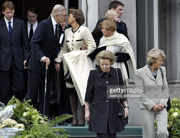 Dutch Queen Beatrix and her sisters Princess Margriet Princess Irene and Princess Christina walk towards the procession in memory of Princess Juliana...