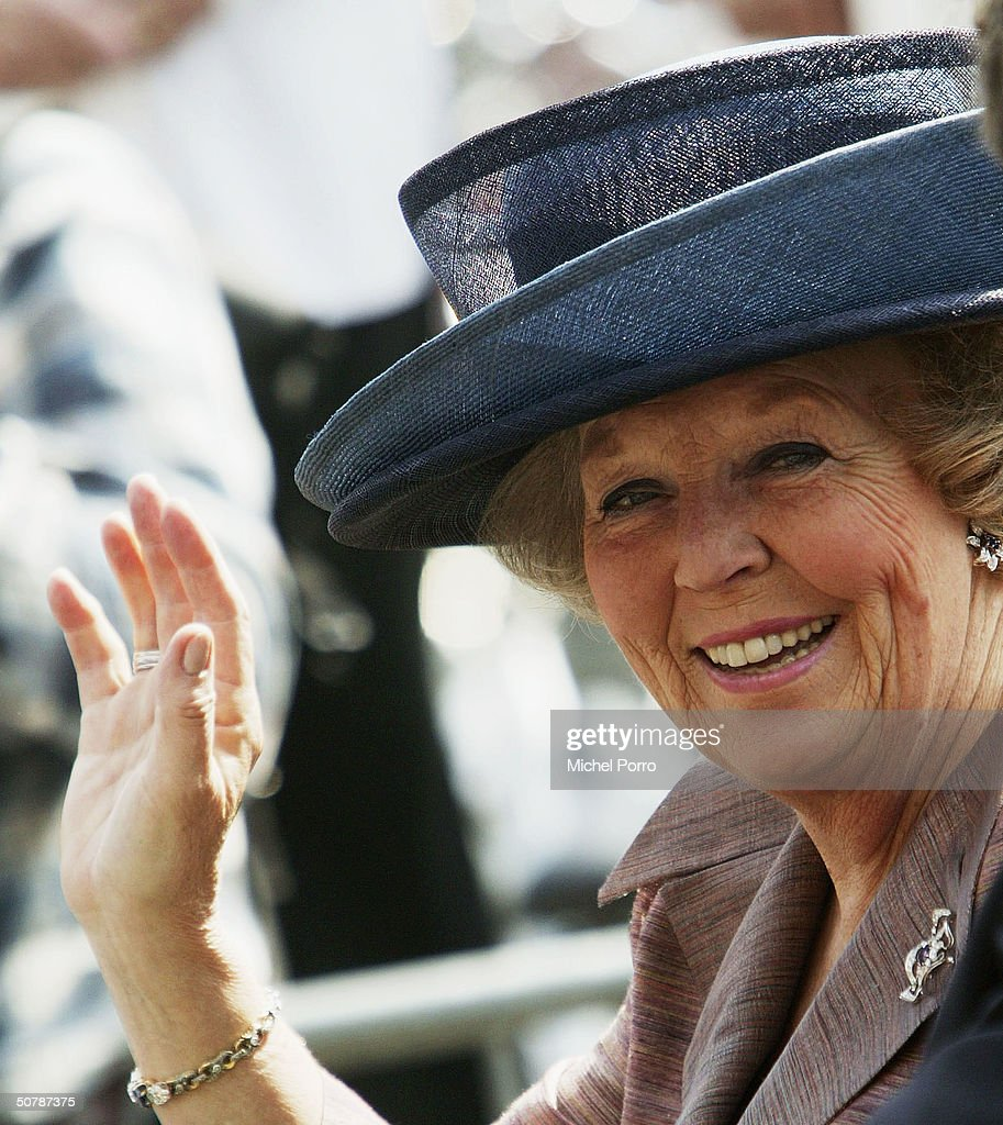 Dutch Queen Beatrix smiles during her birthday celebrations April 30, 2004 in Groningen, The Netherlands. April 30 was the birthday of former Queen Juliana but this public holiday is still the traditional Queen's birthday