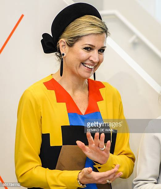 Dutch Queen Maxima attents the Dutch Rome Prize 2015 award ceremony the oldest prize in the Netherlands for artists under 40 on December 17 2015 in...