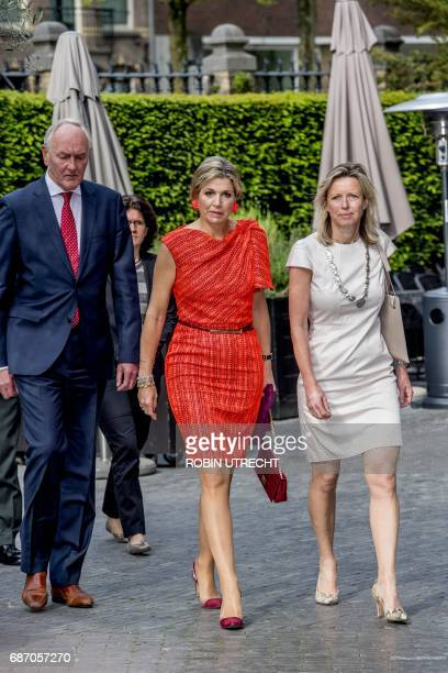 Dutch Queen Maxima honorary president of platform Wiser in money matters attends the annual symposium of the platform at The College Hotel in...