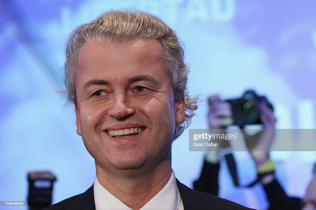 Dutch right-wing politician Geert Wilders greets supporters upon his arrival on October 2, 2010 in Berlin, Germany. Wilders came on the invitation of German renegade former Christian Democrat (CDU) Rene Stadtkewitz, an outspoken Islam critic, to speak to approximately 500 supporters in Berlin. Wilders is seeking to create an international alliance of critics of Islam, called the 'International Freedom Alliance,' in Germany, France, the United Kingdom, Switzerland, Denmark, the United States and the Netherlands.