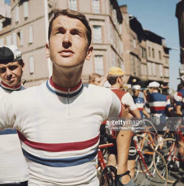 Dutch road racing cyclist Fedor den Hertog pictured during competition in a road race in France in September 1971 Fedor den Hertog would compete to...