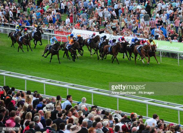Dutch Rose ridden by Kieren Fallon wins the eventmasterscouk EBF Fillies Stakes during day two of the 2013 Yorkshire Ebor Festival at York Racecourse...