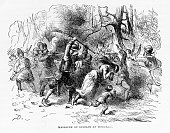 Dutch settlers massacre Native Americans in Hoboken New Jersey February 25 1643 The attack was ordered by Willem Kieft which precipitated the...