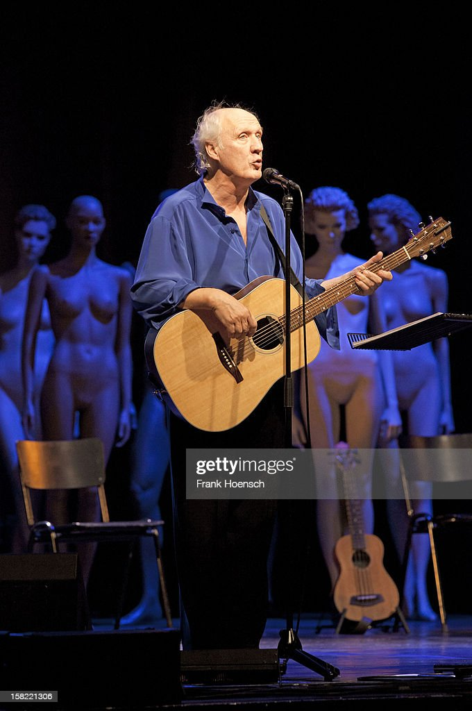 Dutch singer Herman van Veen performs live during a concert at the Admiralspalast on December 11 2012 in Berlin Germany
