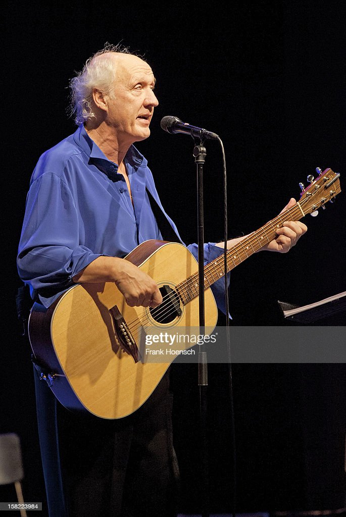 Dutch singer <a gi-track='captionPersonalityLinkClicked' href=/galleries/search?phrase=Herman+van+Veen&family=editorial&specificpeople=1698732 ng-click='$event.stopPropagation()'>Herman van Veen</a> performs live during a concert at the Admiralspalast on December 11, 2012 in Berlin, Germany.