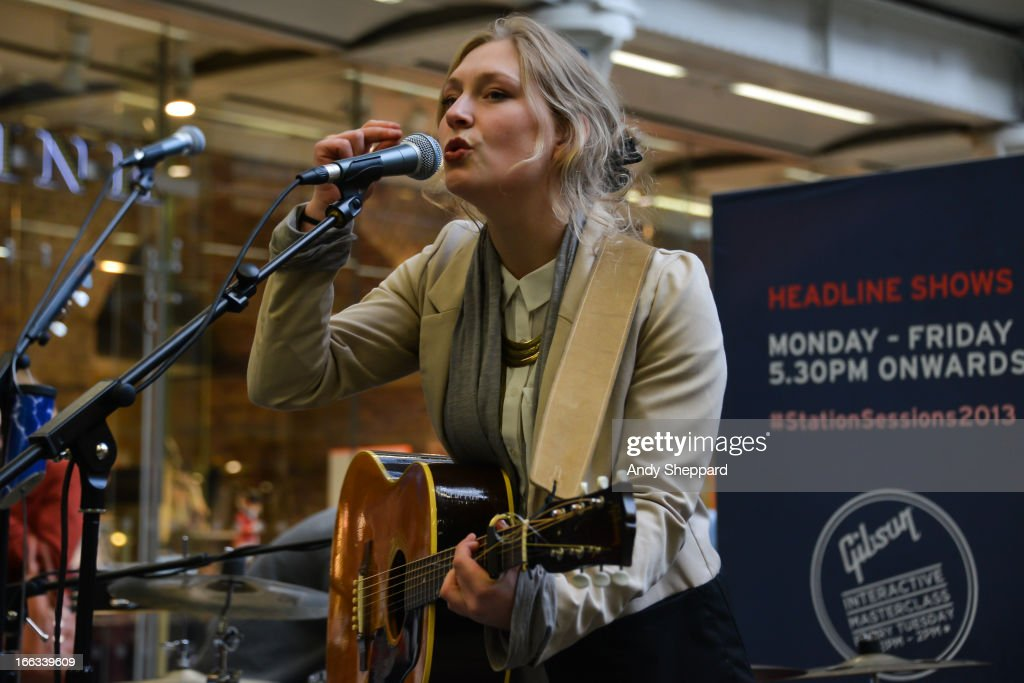 Dutch singer-songwriter Yori Swart performs for Station Sessions Festival 2013 at St Pancras Station on April 11, 2013 in London, England.