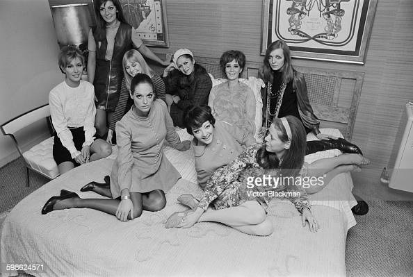 Dutch supermodel Wilhelmina Cooper the founder of talent management agency Wilhelmina Models with some of her models Jean Condon Jackie Perrin Jani...