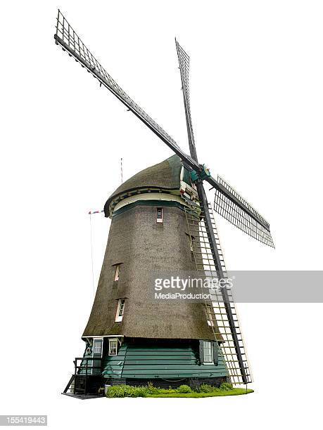Dutch windmill with clipping path