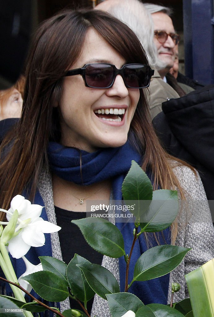 Dutch-Israeli singer Keren Ann attends a ceremony to unveil a plaque to mark the building where French entertainer Henri Salvador had lived for 46 years, 6 place Vendome in Paris, on November 9, 2011.