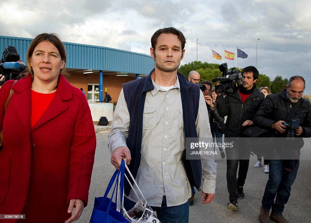 Dutchman Romano Liberto Van Der Dussen walks after after leaving the prison of Palma de Mallorca where he was jailed for 12 years on February 11, 2016. Spain's Supreme Court today overturned a six-and-a-half year prison sentence for Van Der Dussen convicted of sexual assault after new DNA evidence emerged indicating that a British man was the culprit. REINA