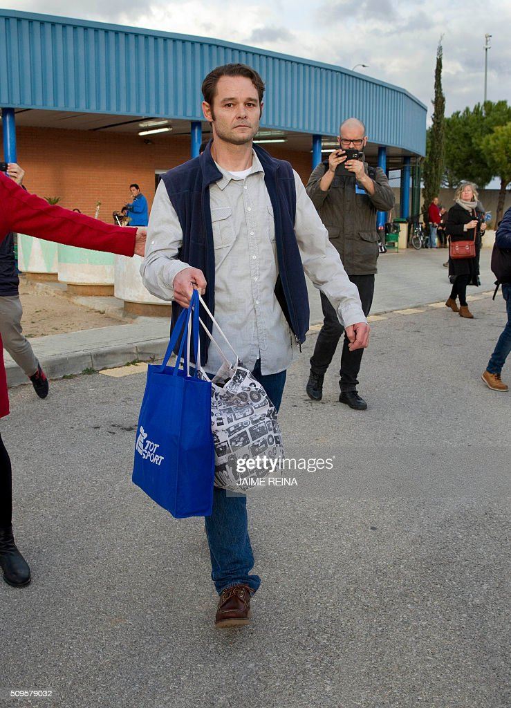 Dutchman Romano Liberto Van Der Dussen walks after leaving the prison of Palma de Mallorca where he was jailed for 12 years on February 11, 2016. Spain's Supreme Court today overturned a six-and-a-half year prison sentence for Van Der Dussen convicted of sexual assault after new DNA evidence emerged indicating that a British man was the culprit. REINA