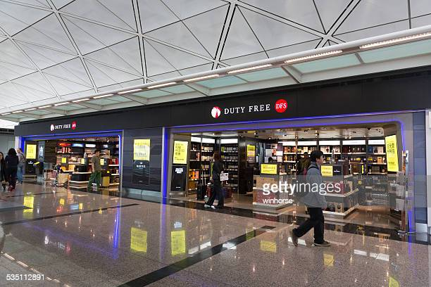 Magasin Duty-Free à l'aéroport International de Hong Kong