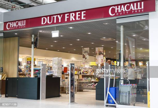 Duty free shopping for flight passengers at the Airport Weeze where Ryan Air offers flights to Sardinia on September 08 2014 in Weeze Germany