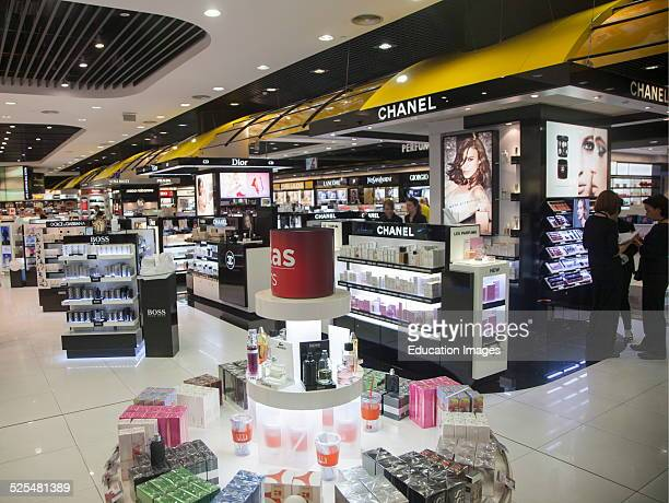 Duty Free shopping lounge in Malaga airport Spain
