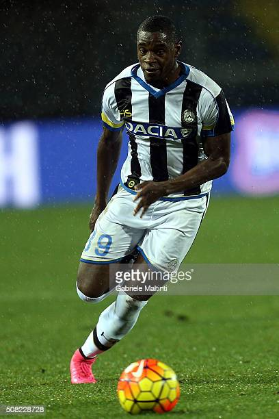 Duvan Zapata of Udinese Calcio in action during the Serie A match between Empoli FC and Udinese Calcio at Stadio Carlo Castellani on February 3 2016...