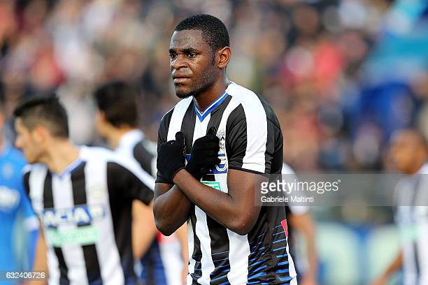 Duvan Zapata of Udinese Calcio reacts during the Serie A match between Empoli FC and Udinese Calcio at Stadio Carlo Castellani on January 22 2017 in...