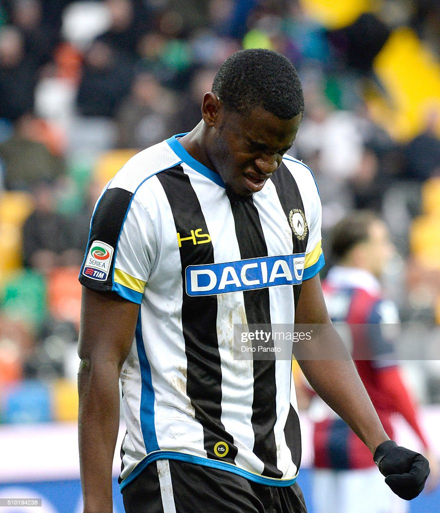 Duvan Zapata of Udinese shows his dejection during the Serie A match between Udinese Calcio and Bologna FC at Stadio Friuli on February 14, 2016 in Udine, Italy.