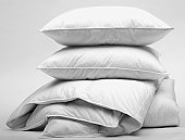 White goose down duvet and pillows