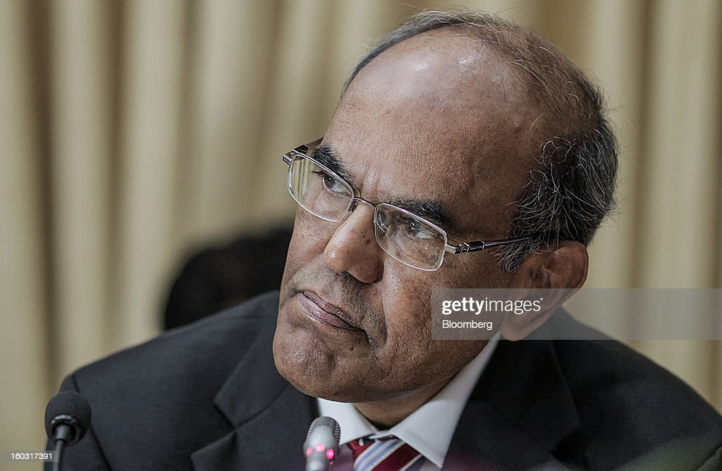 Duvvuri Subbarao, governor of the Reserve Bank of India (RBI), pauses during a news conference in Mumbai, India, on Tuesday, Jan. 29, 2013. India lowered interest rates for the first time since April and cut the amount of deposits lenders must set aside as reserves, easing policy to aid growth as inflation lenders must set aside as reserves, easing policy to aid growth as inflation cools and the government curbs the budget deficit. Photographer: Dhiraj Singh/Bloomberg via Getty Images Duvvuri Subbarao