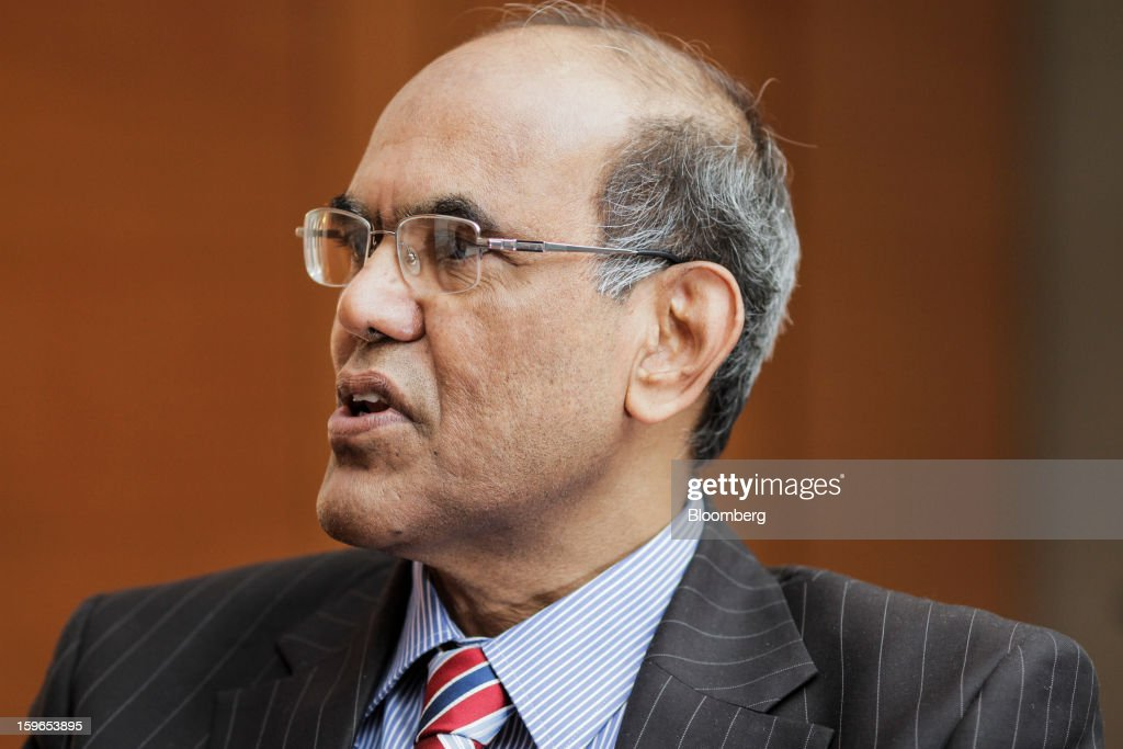 Duvvuri Subbarao, governor of the Reserve Bank of India (RBI), speaks during an interview in Mumbai, India, on Thursday, Jan. 17, 2013. A surge in the number of Indians with bank accounts in coming years will boost Asia's third-largest economy by providing more funds for investment, Subbarao said. Photographer: Dhiraj Singh/Bloomberg via Getty Images