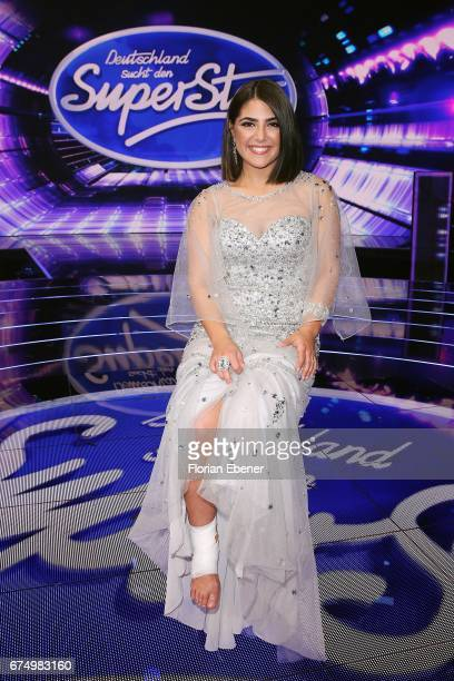 Duygu Goenel during the fourth event show and semi finals of the tv competition 'Deutschland sucht den Superstar' at Coloneum on April 29 2017 in...