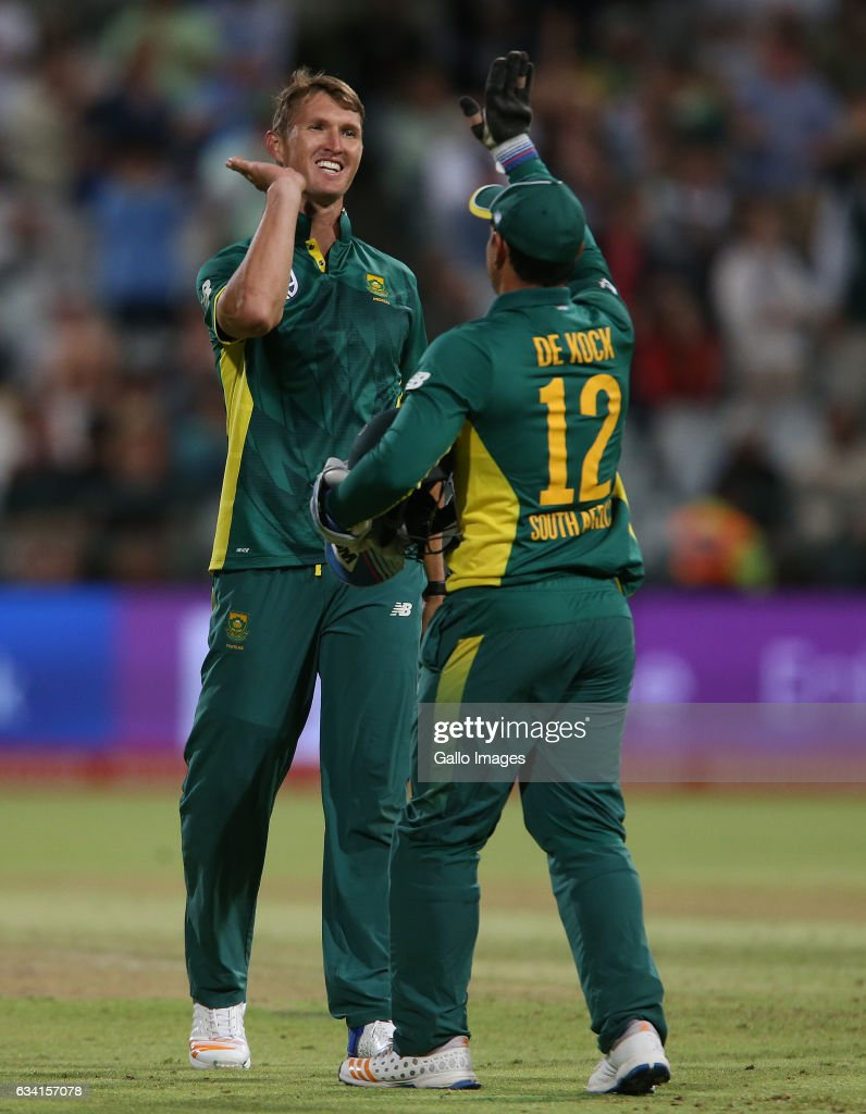 Dwaine Pretorius of the Proteas during the 4th ODI between South Africa and Sri Lanka at PPC Newlands on February 07, 2017 in Cape Town, South Africa.