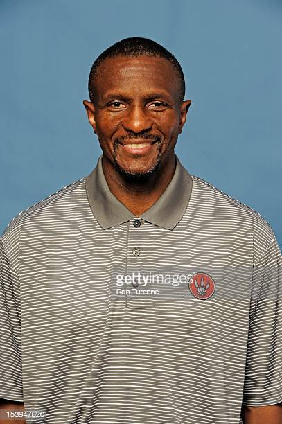 Dwane Casey head coach of the Toronto Raptors poses for a portrait during a Media Day on October 1 2012 in Toronto Canada NOTE TO USER User expressly...