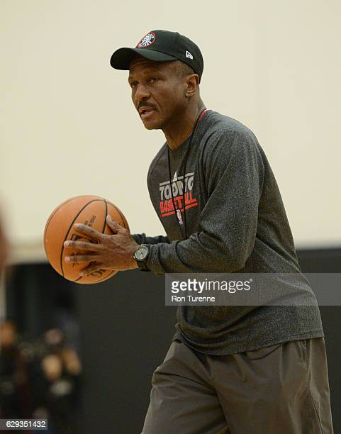 Dwane Casey of the Toronto Raptors during open practice on December 7 at the BioSteel Centre in Toronto Ontario Canada NOTE TO USER User expressly...