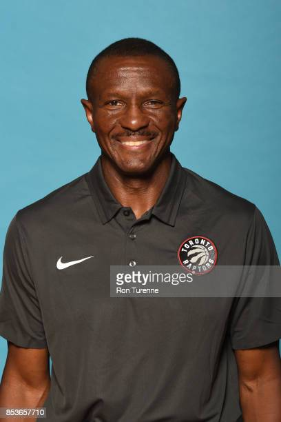 Dwane Casey of the Toronto Raptors poses for a head shot during Media Day on September 25 2017 at the BioSteel Centre in Toronto Ontario Canada NOTE...