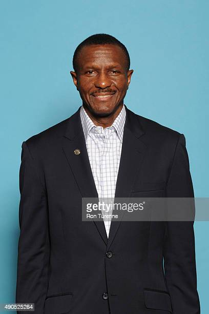 Dwane Casey of the Toronto Raptors poses for a photo during media day on September 28 at the Air Canada Centre in Toronto Ontario Canada NOTE TO USER...