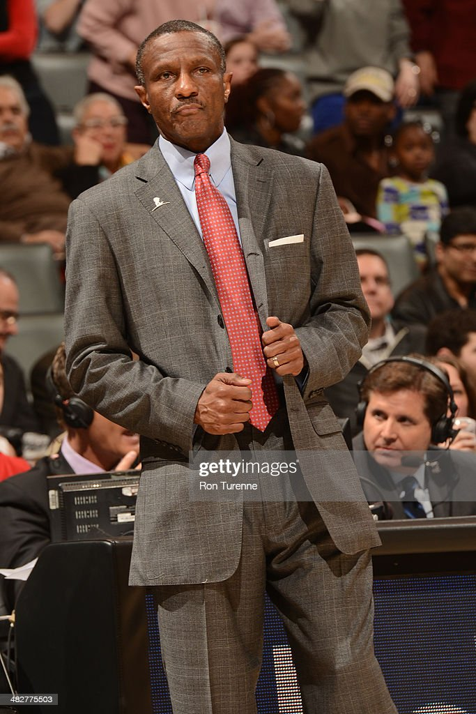 <a gi-track='captionPersonalityLinkClicked' href=/galleries/search?phrase=Dwane+Casey&family=editorial&specificpeople=242849 ng-click='$event.stopPropagation()'>Dwane Casey</a> of the Toronto Raptors reacts during the game against the Boston Celtics on March 28, 2014 at the Air Canada Centre in Toronto, Ontario, Canada.