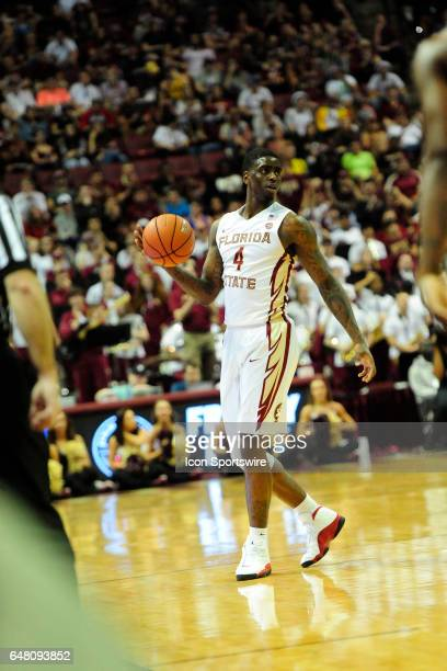 Dwayne Bacon guard Florida State University Seminoles handles the basketball against Miami Hurricanes against the Miami Hurricanes in an Atlantic...