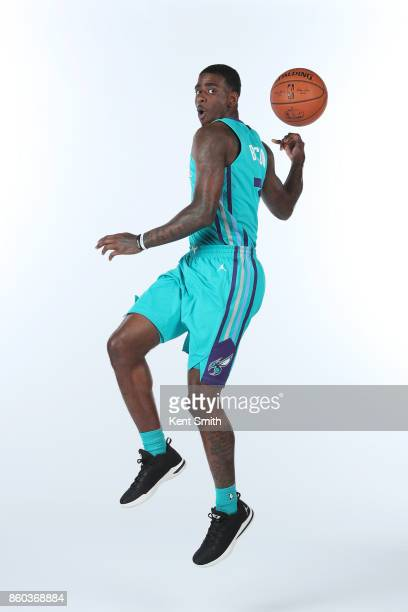 Dwayne Bacon of the Charlotte Hornets poses for a portrait during media day on September 25 2017 at Spectrum Center in Charlotte North Carolina NOTE...