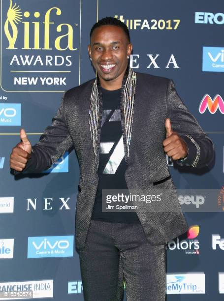Dwayne Bravo attends the 2017 International Indian Film Academy Festival at MetLife Stadium on July 14 2017 in East Rutherford New Jersey