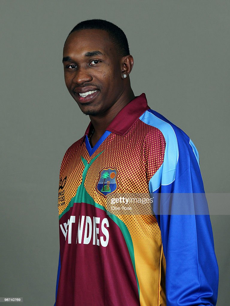 <a gi-track='captionPersonalityLinkClicked' href=/galleries/search?phrase=Dwayne+Bravo&family=editorial&specificpeople=178945 ng-click='$event.stopPropagation()'>Dwayne Bravo</a> of West Indies poses during a portrait session ahead of the ICC T20 World Cup at the Pegasus Hotel on April 26, 2010 in Georgetown, Guyana.