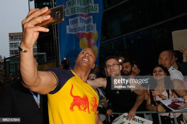 Dwayne Johnson attends the European premiere of 'Baywatch' at Cinestar on May 30 2017 in Berlin Germany